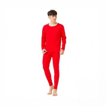 420060棉质保暖柔软舒适家居男士打底套装